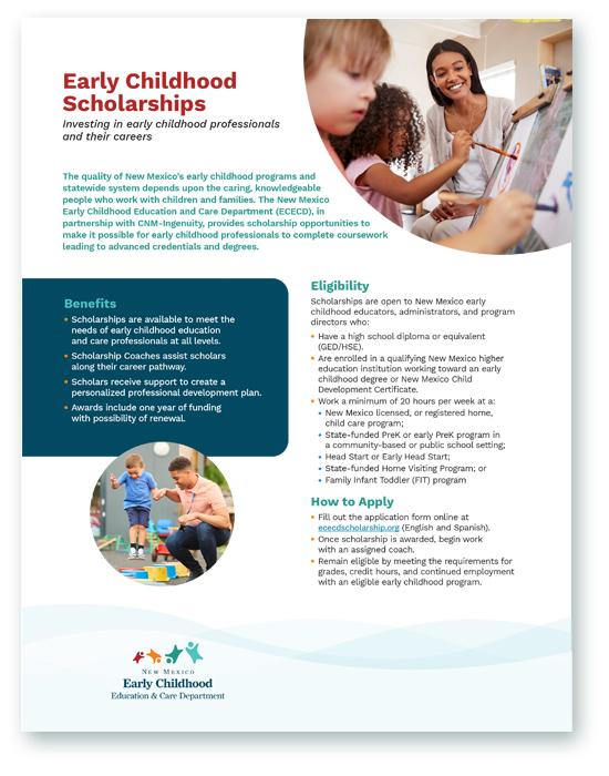 Early Childhood Scholarship flyer